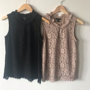 J. Crew Small TALL Lined Lace Top